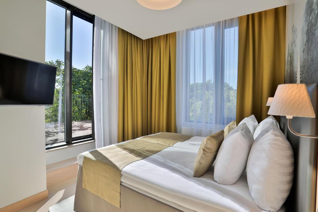 塔林百年纪念酒店客房内的一张或多张床位