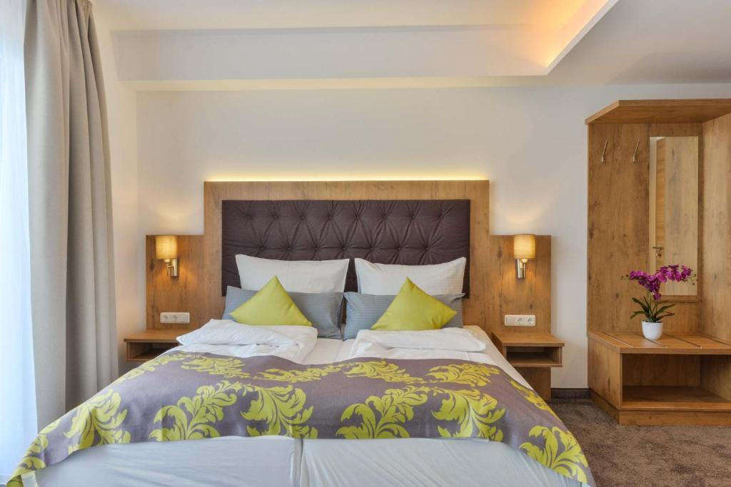 豪斯特尔花园酒店客房内的一张或多张床位