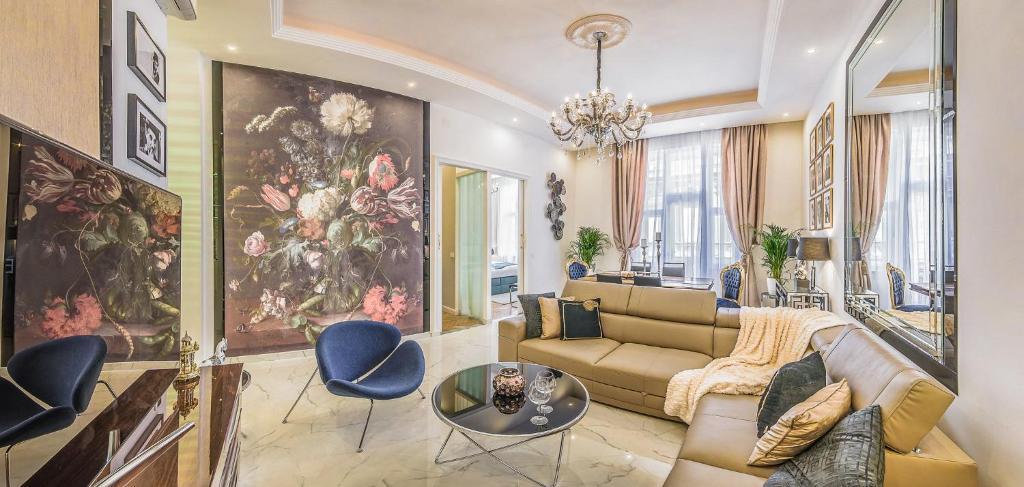 VIP Residence Danubius的休息区