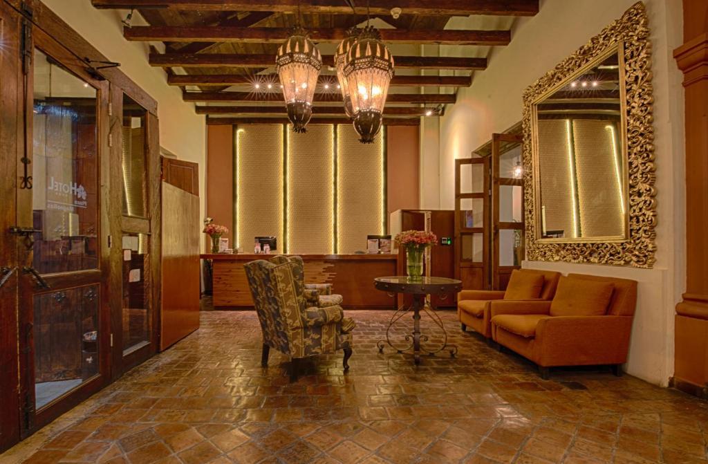 木兰广场酒店的休息区