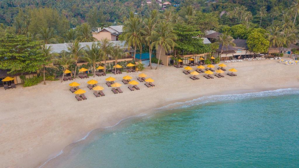 帕岸岛布里拉沙酒店鸟瞰图