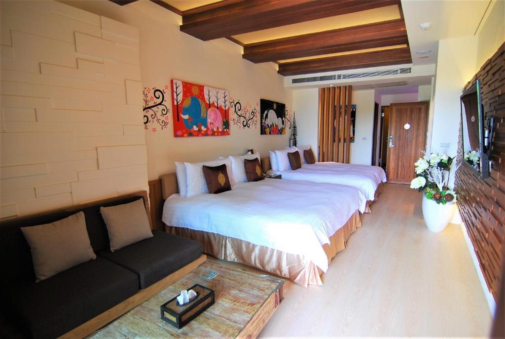 A&L 恋湾旅栈客房内的一张或多张床位