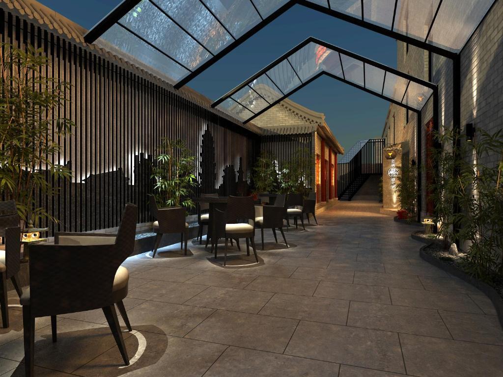 映向城市文化酒店(北京天安门故宫店)餐厅或其他用餐的地方