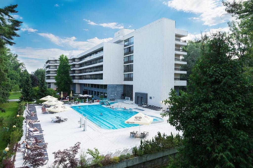 爱斯普奈健康Spa度假酒店内部或周边的泳池