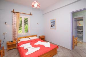 Panorama Studios客房内的一张或多张床位