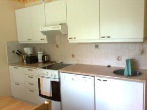 马伦特公寓的厨房或小厨房