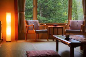 三色坎酒店的休息区