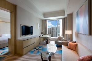 厦门希尔顿逸林酒店的休息区