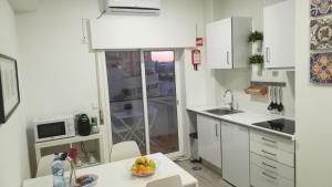 波尔图中心公寓的厨房或小厨房