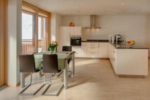 梅里克高级公寓的厨房或小厨房