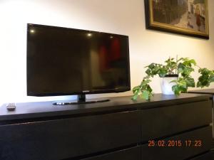 城市中心公寓的电视和/或娱乐中心