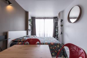 Studio Air d'été客房内的一张或多张床位