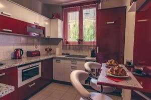 盖勒特山公寓的厨房或小厨房