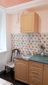 Квартира в центре Пятигорска的厨房或小厨房