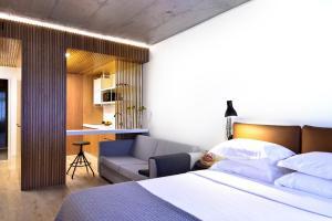 My Story Apartments Porto - Santa Catarina客房内的一张或多张床位