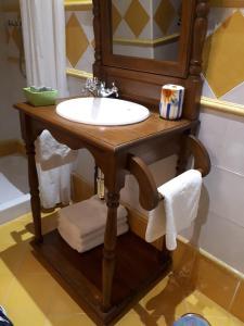 旧学校旅馆的一间浴室