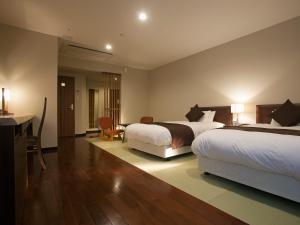 长良川之乡饭店客房内的一张或多张床位