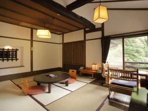 富士屋旅馆的休息区