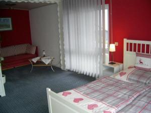 Ferienwohnung Veronika Pape客房内的一张或多张床位