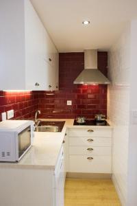 法多路径公寓的厨房或小厨房