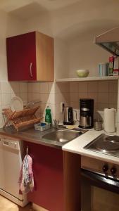奥西斯斯杜贝民宿的厨房或小厨房