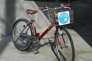 在蒙塔涅松本酒店 内部或周边骑自行车