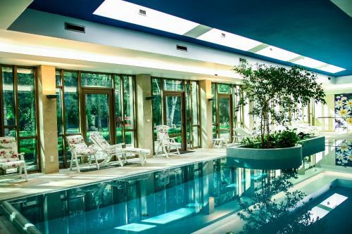 罗扎纳公寓内部或周边的泳池