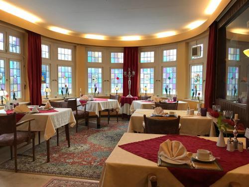 Hotel Bückeburger Hof餐厅或其他用餐的地方