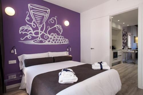 ADN宜居公寓客房内的一张或多张床位