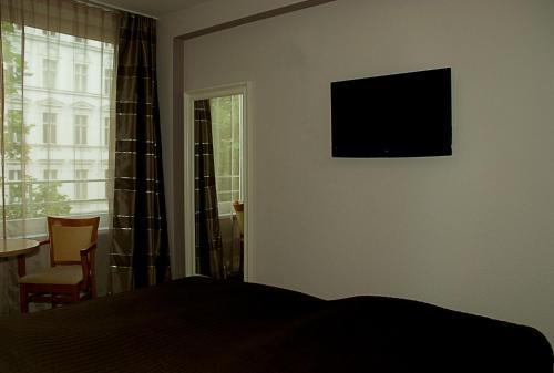 列维酒店的电视和/或娱乐中心