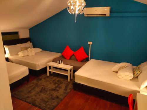 牛车水背包客旅馆客房内的一张或多张床位
