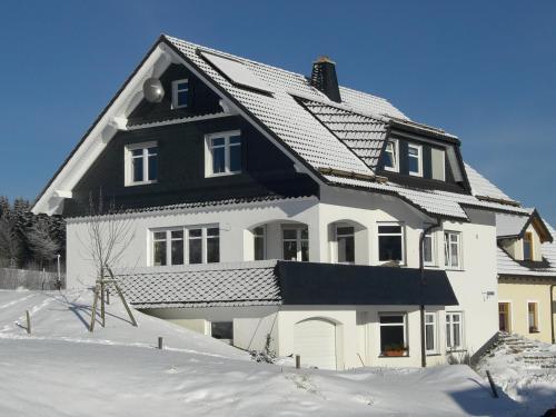 冬天的Ferienwohnung Hartmann