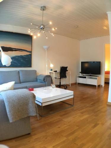 YM40公寓的休息区