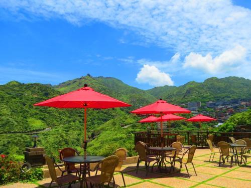 金瓜石艺栈景观度假别墅餐厅或其他用餐的地方