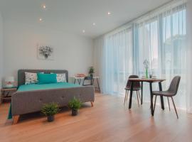 New studio apartment with panoramic window