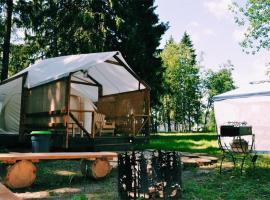 Camping on Televizionnaya 21, Myshetskoye (Lake Krugloye附近)