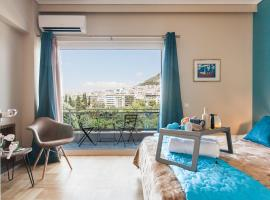 Central Athens high-class and safe area next to Metro Airport Line with Acropolis View