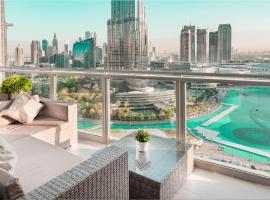 Elite Royal Apartment - Full Burj Khalifa & Fountain view - Ambassador,位于迪拜的公寓
