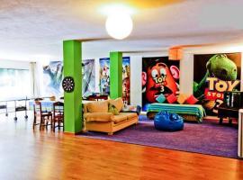 彩色一室公寓