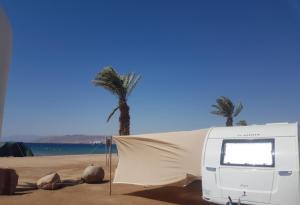 caravan on the sea