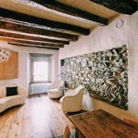 Historic stone wall house in Domodossola center