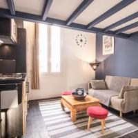 蓝色夹层一室公寓
